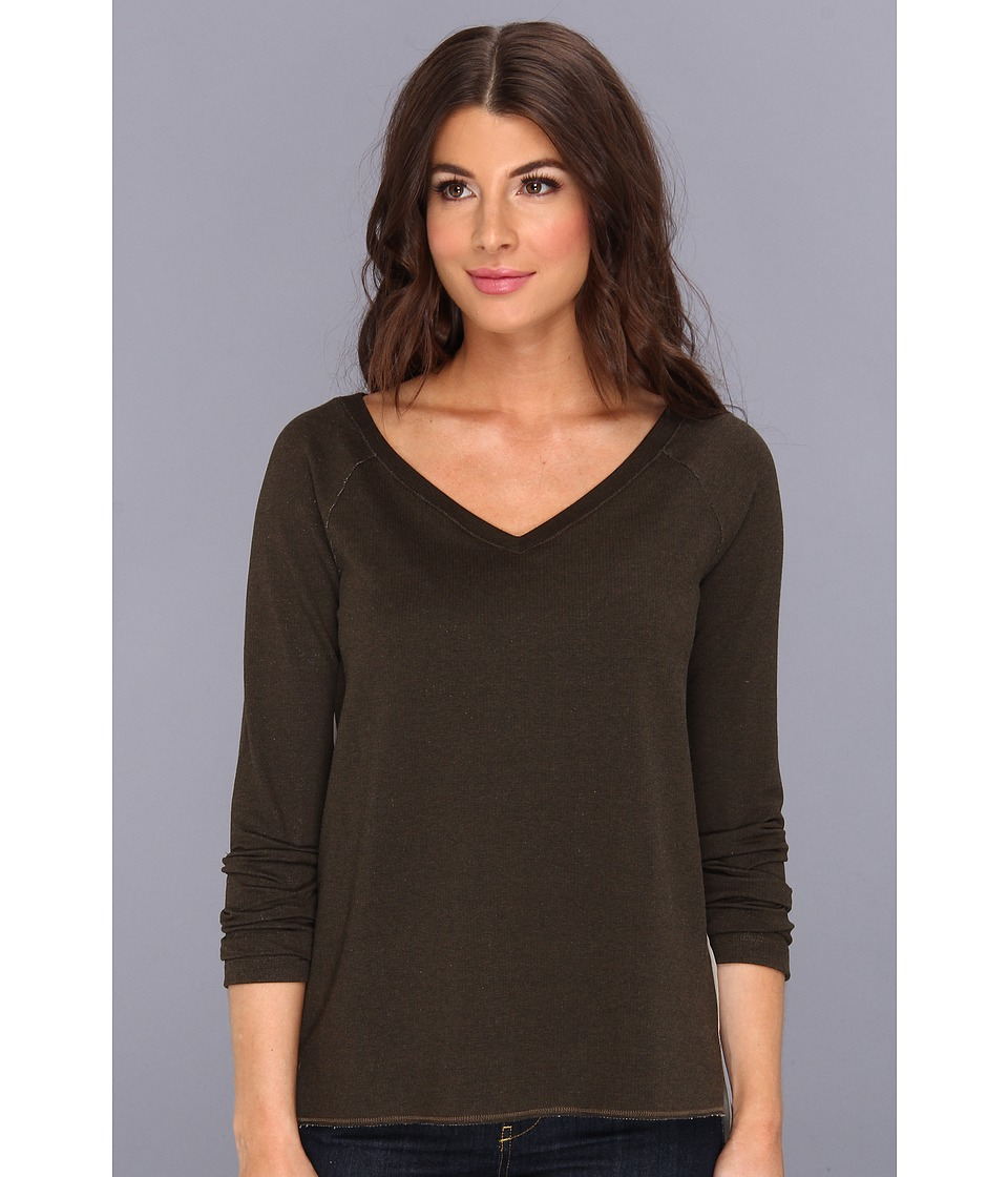 Bailey 44 - Melatonin Top (Army/Elephant) Women's Long Sleeve Pullover