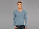 DKNY Jeans L/S Solid Plaited V-Neck Sweater