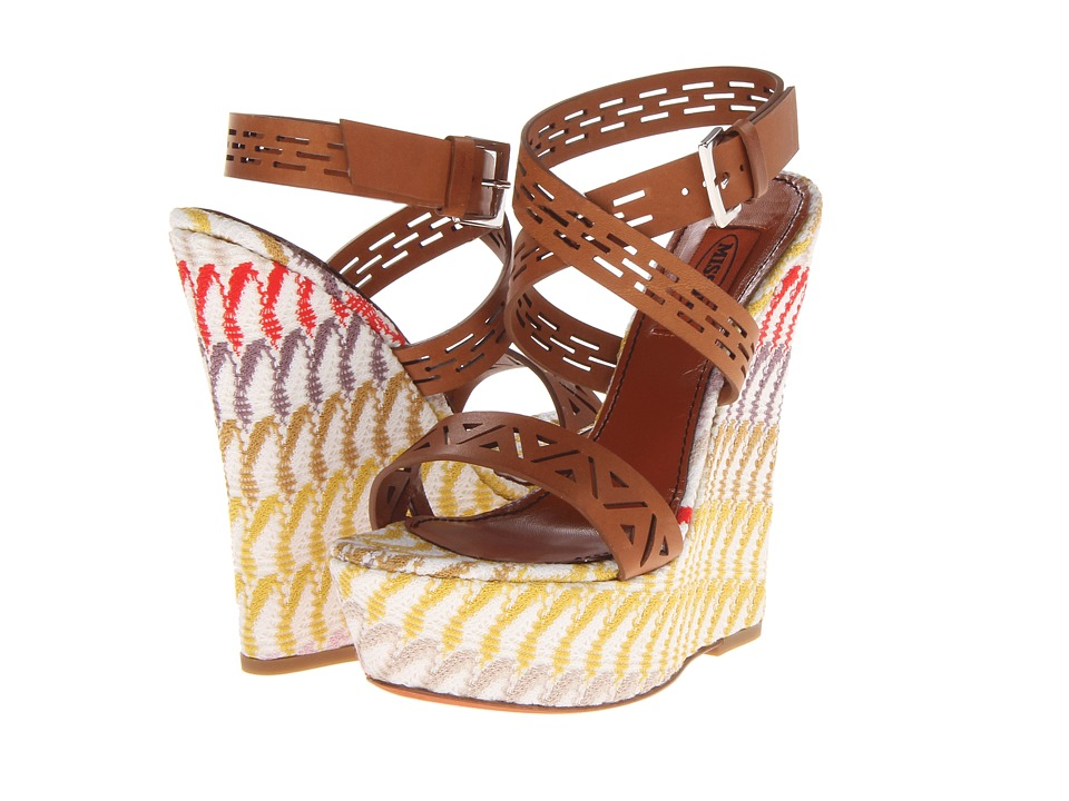 Missoni - Crochet Wave Wedge Sandal (Multi) Women