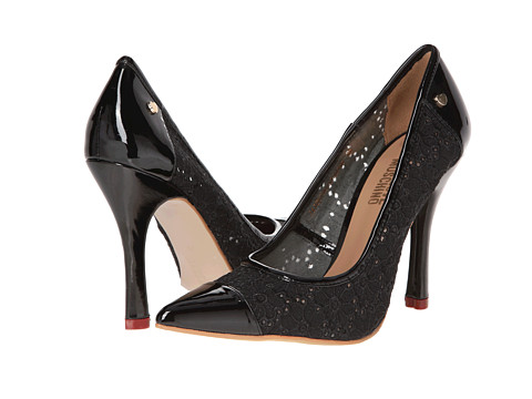 LOVE Moschino - Eyelet Cap Toe Pump (Black) High Heels