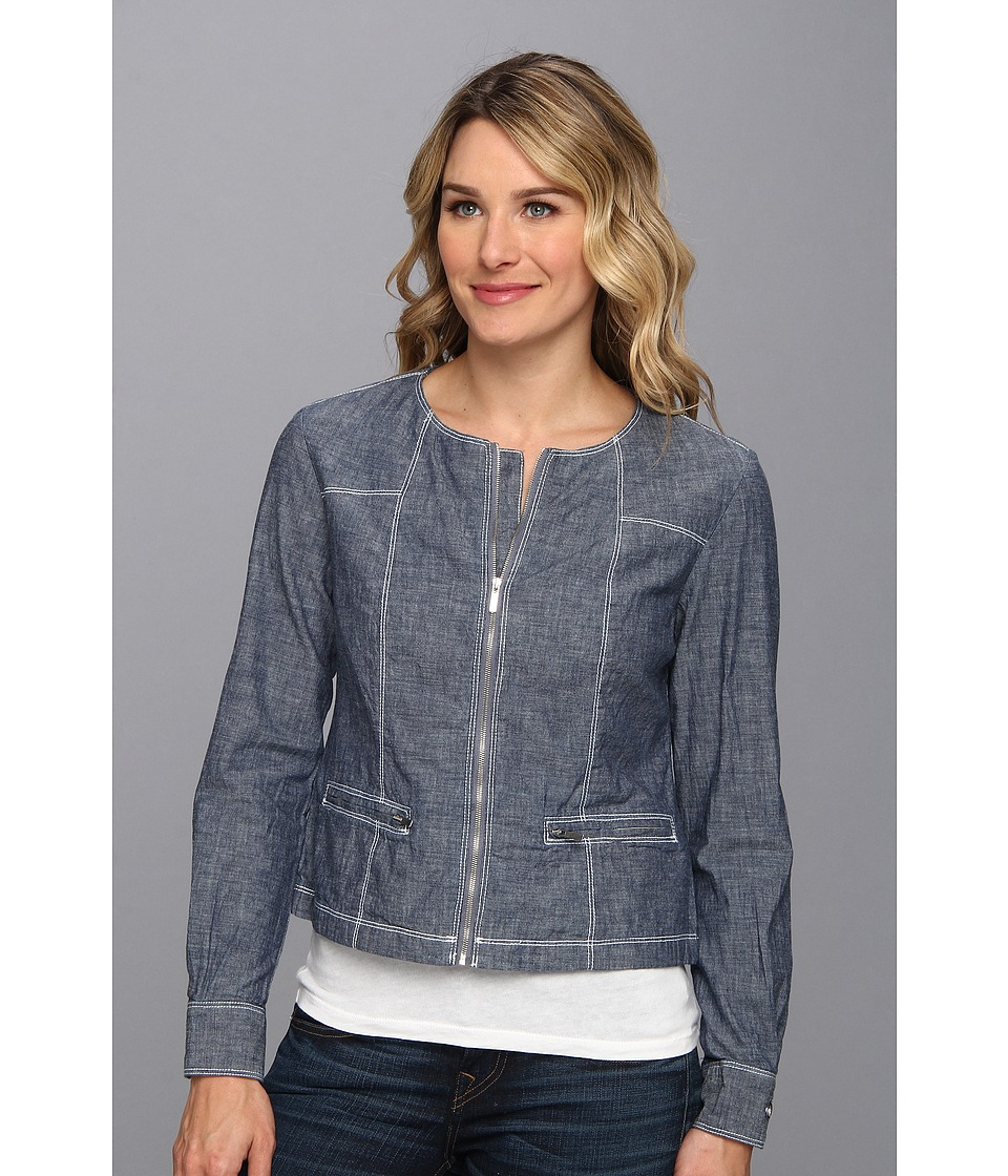 Tommy Bahama - Chambray Seamed Jacket (Enzyme Wash) Women's Jacket