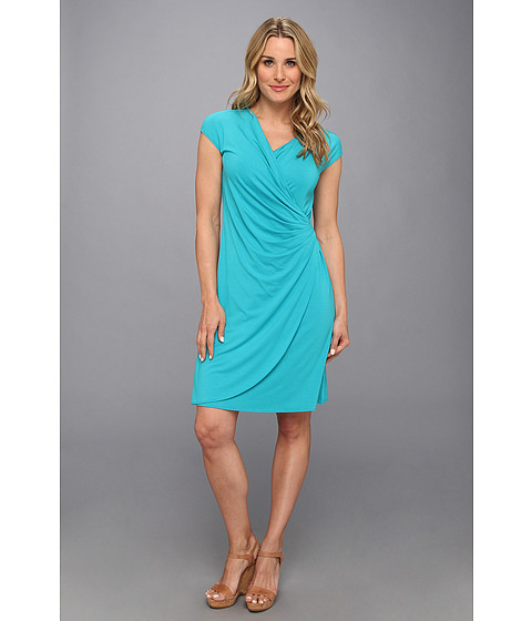 Tommy Bahama - Tambour Side Gathered Dress (Cayman Lagoon) Women