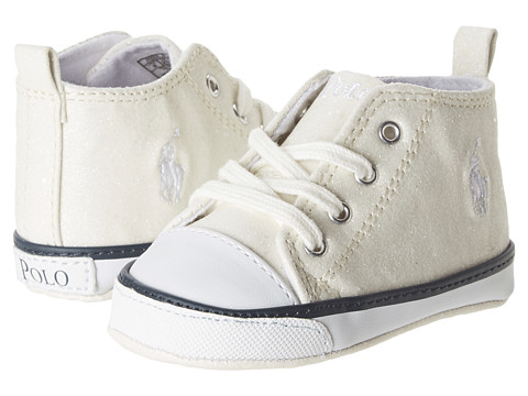 Ralph Lauren Layette Kids - Harbour Hi (Infant/Toddler) (White Sparkle) Boys Shoes