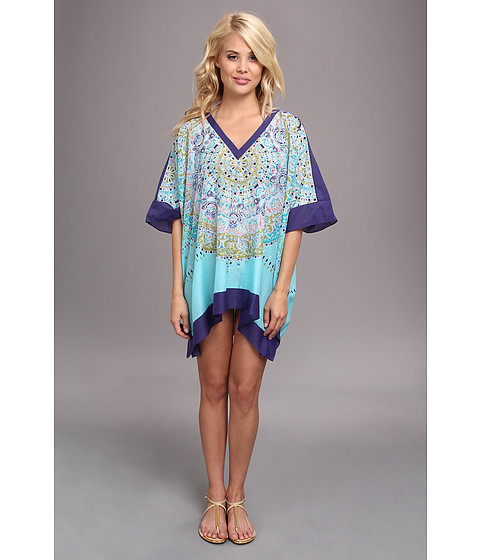 Tommy Bahama - May Pen Medallion Tunic (Clear Ocean) Women's Dress