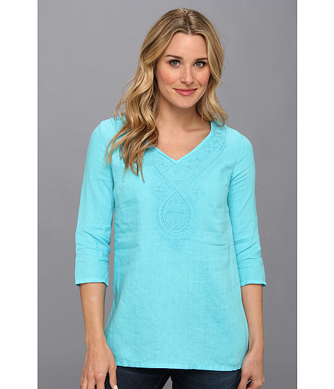 Tommy Bahama - Two Palms Medallion Tunic (Clear Ocean) Women's Blouse