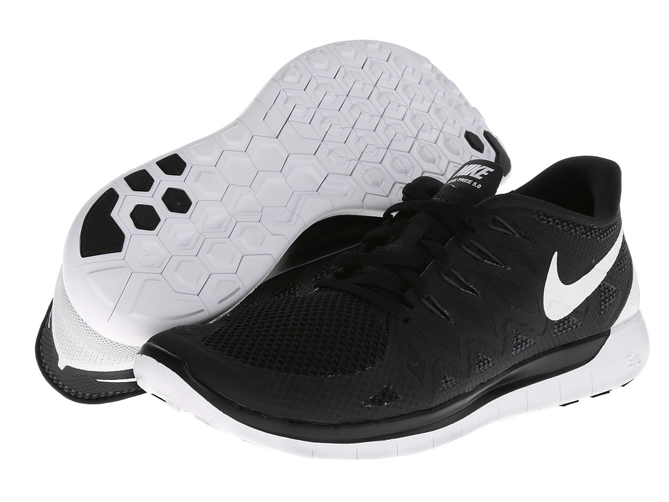 Nike - Nike Free 5.0 '14 (Black/Anthracite/White) Men's Running Shoes