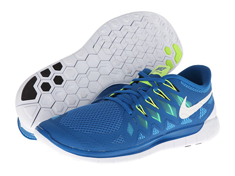 Nike - Nike Free 5.0 '14 (Military Blue/Polarized Blue/Midnight Navy/White) Men's Running Shoes