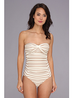 SALE! $61.99 - Save $50 on DKNY City Lines Draped Maillot One Piece (Bare) Apparel - 44.65% OFF $112.00