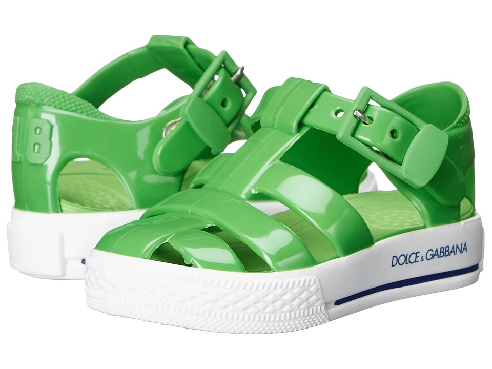 Dolce & Gabbana Kids Beach Sandal (Toddler/Little Kid) (Green) Girls Shoes