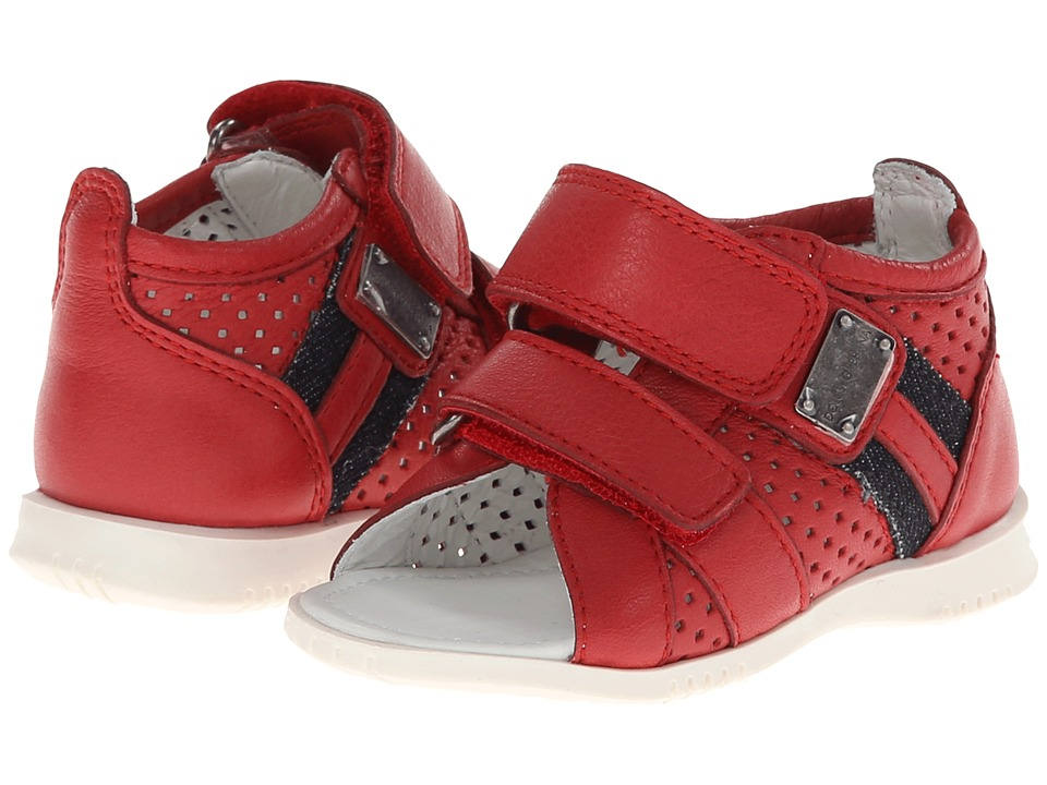Dolce & Gabbana - BiColor Sandal (Toddler) (Red/White) Men's Sandals