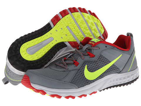 Nike - Wild Trail (Cool Grey/Gym Red/Wolf Grey/Volt) Men's Running Shoes
