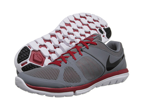 Nike - Flex 2014 Run (Cool Grey/Light Crimson/White/Black) Men's Running Shoes