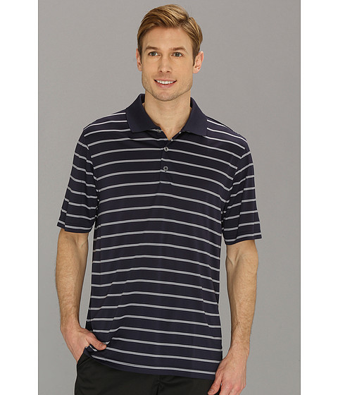 adidas Golf - Puremotion 2-Color Stripe Jersey Polo '15 (Navy/White) Men's Short Sleeve Knit