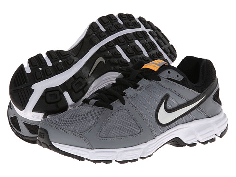 Nike - Downshifter 5 (Cool Grey/Atomic Mango/White/Metallic Silver) Men's Running Shoes