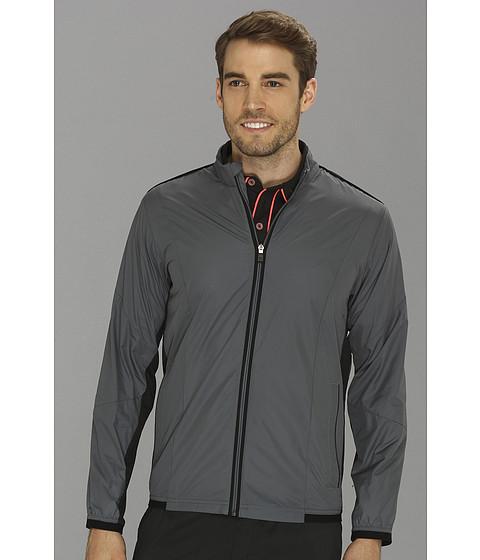 adidas Golf - CLIMAPROOF Stretch Wind Jacket (Lead/Black) Men