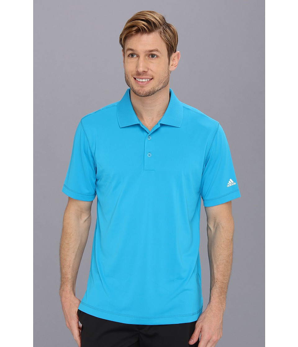 adidas Golf - Puremotion Solid Jersey Polo '15 (Solar Blue/White) Men's Short Sleeve Knit