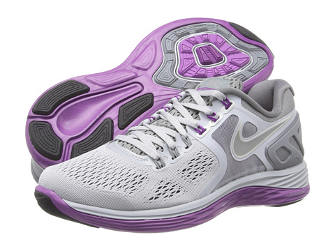 Nike - Lunareclipse +4 (Wolf Grey/Cool Grey/Bright Grape/Reflective Silver) Women's Running Shoes