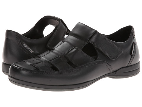 Mephisto - Rafael (Black Smooth) Men's Hook and Loop Shoes