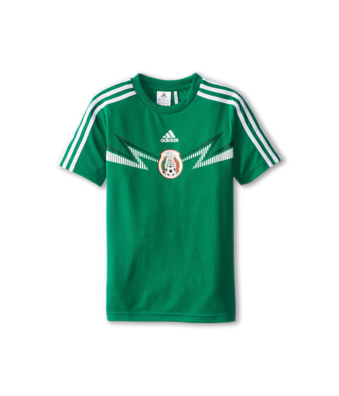 adidas Kids - FMF Home Replica Tee (Little Kids/Big Kids) (Vivid Green/White) Boy's T Shirt