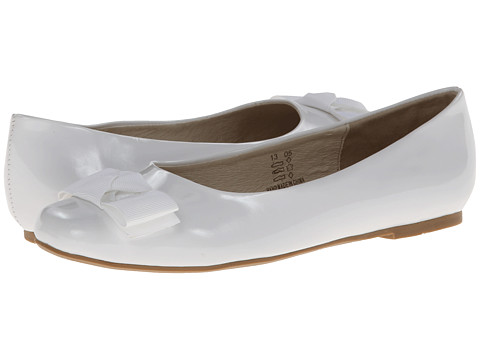 Pazitos - Max Bow Buckle BF PU (Little Kid/Big Kid) (White) Girls Shoes