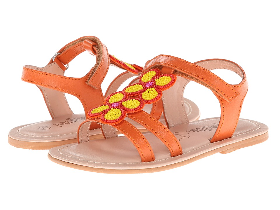 Pazitos - Love Bead Clover (Toddler) (Orange/Yellow) Girls Shoes