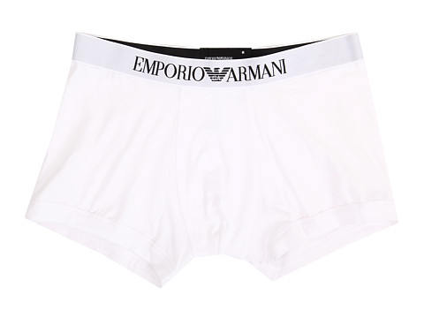 Emporio Armani - Stretch Cotton Boxer Brief (White) Men