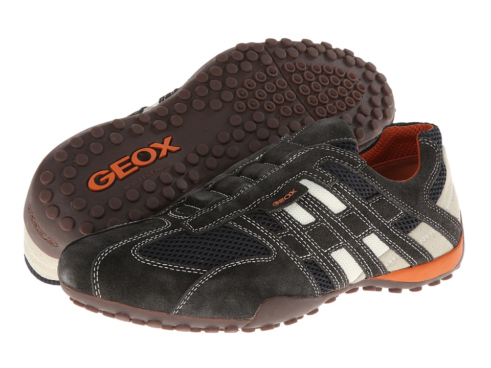 Geox Uomo Snake 96 (Dark Grey/Off White) Men