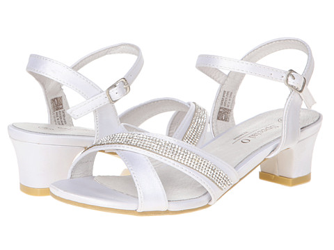 Pazitos - XO (Little Kid/Big Kid) (White Satin) Girl's Shoes