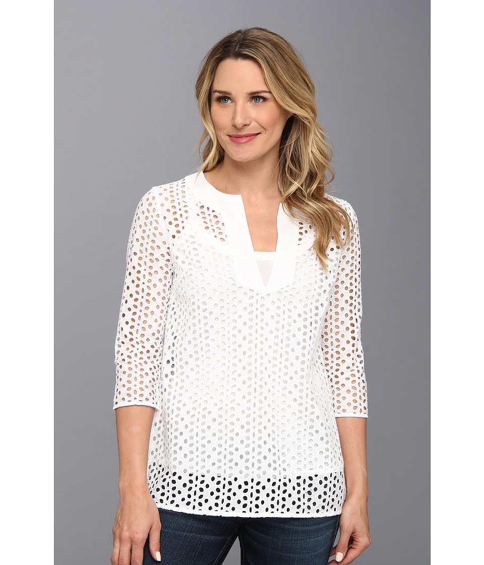 Tommy Bahama - Opal Eyelet Tunic (White) Women's Blouse
