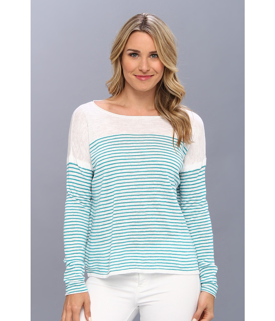 Tommy Bahama - Jami Stripe Pullover (Cayman Lagoon) Women's Sweater