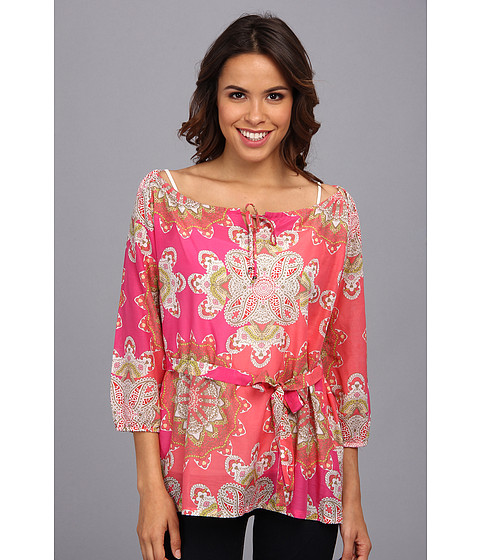 Tommy Bahama - Sand Dollar Paisley Top (Tickled Pink) Women
