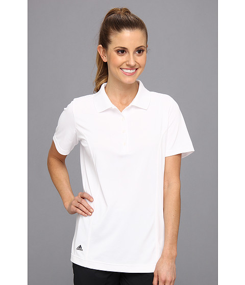 adidas Golf - Solid Jersey Polo '15 (White/Black) Women's Short Sleeve Knit
