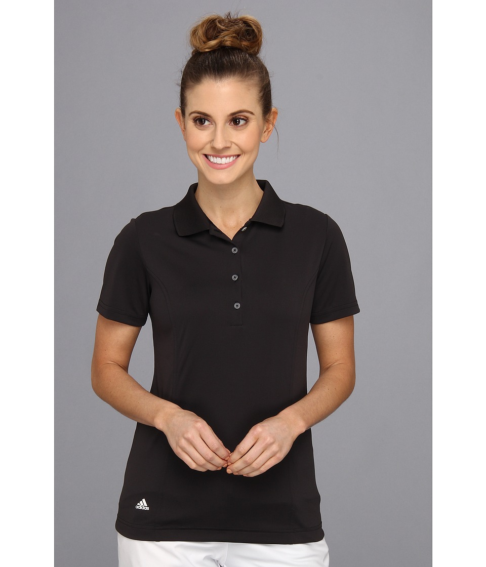 adidas Golf - Solid Jersey Polo '15 (Black/White) Women's Short Sleeve Knit