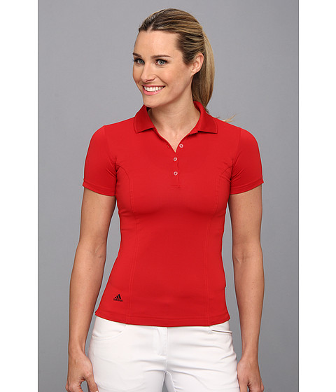 adidas Golf - Solid Jersey Polo '15 (University Red/Black) Women's Short Sleeve Knit