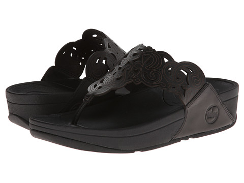 FitFlop - Flora (Black) Women's Sandals