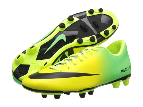 Nike - Mercurial Vortex (FG) (Vibrant Yellow/Neo Lime/Metallic Silver) Men's Soccer Shoes