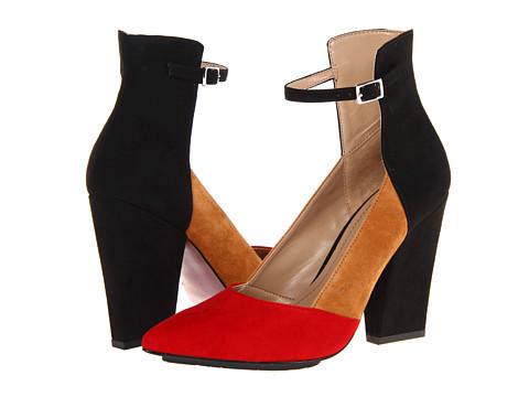 Paris Hilton Belinda (Black/Tan/Red Suede) Women's Shoes