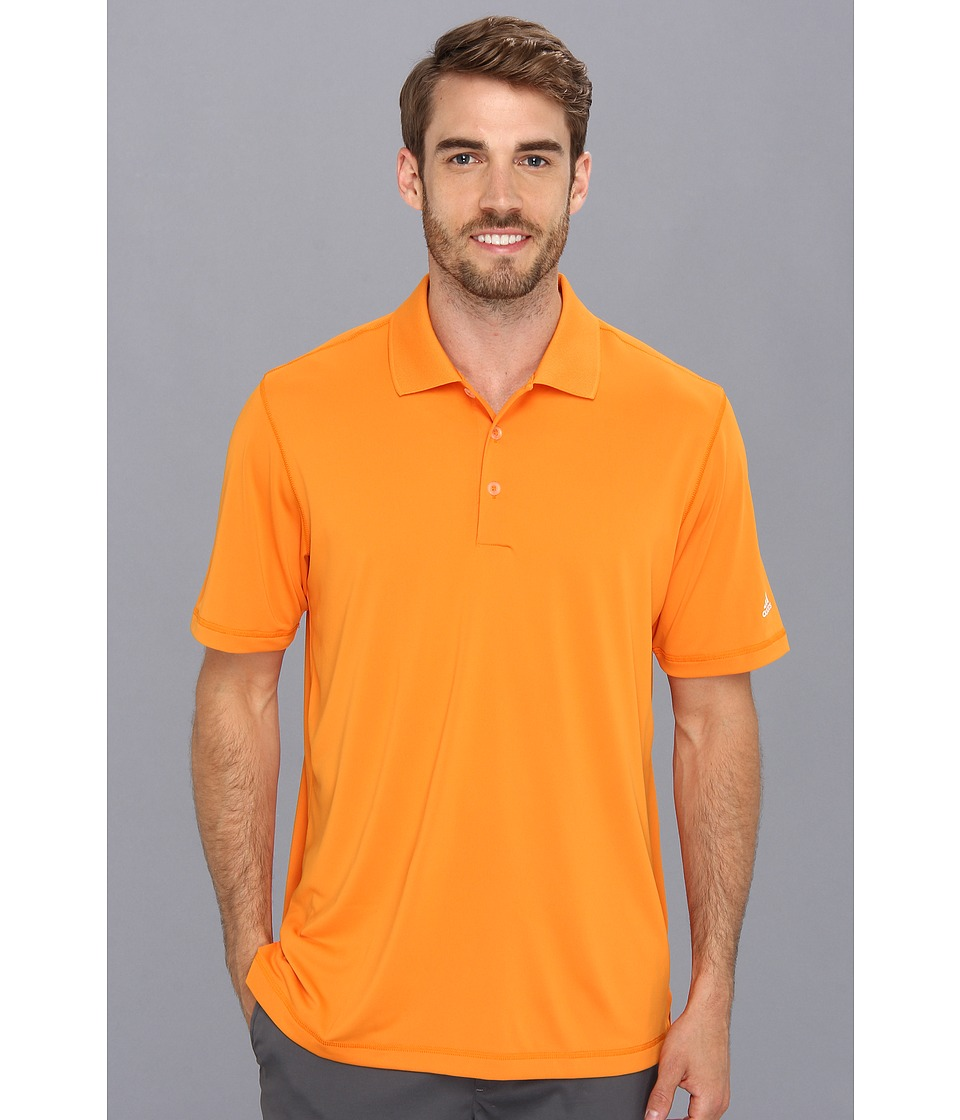 adidas Golf - Puremotiontm Solid Jersey Polo '15 (Light Orange/White) Men's Short Sleeve Knit