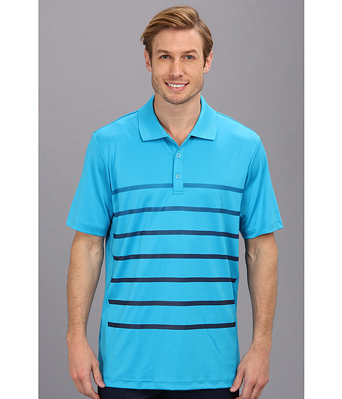 adidas Golf - Puremotion CLIMACOOL Gradient Stripe Polo '14 (Solar Blue/Midnight) Men's Short Sleeve Pullover