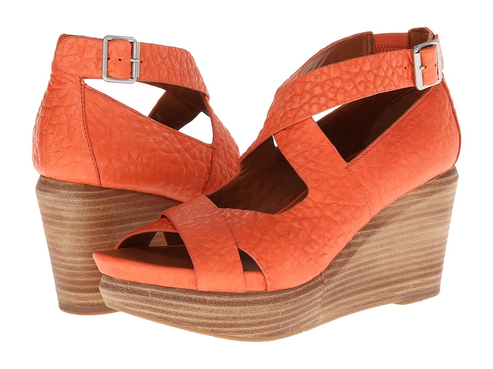 Gentle Souls - Jasione (Orange Leather) Women's Wedge Shoes