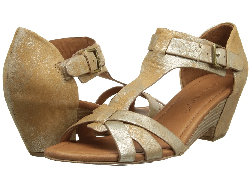 Gentle Souls Malana (Gold Metallic Suede) Women