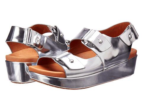 Gentle Souls - Jahzara (Silver Metallic Leather) Women's Wedge Shoes