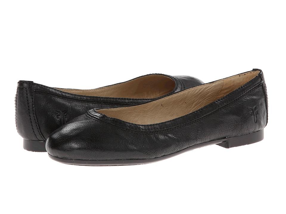 Frye Kids Carson Ballet (Little Kid/Big Kid) (Black Antique Soft Vintage) Girls Shoes