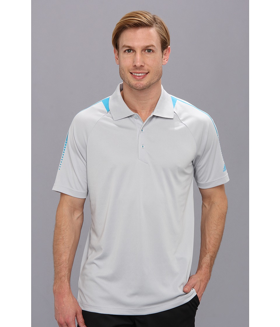 adidas Golf - CLIMACHILL(r) Shoulder Polo '14 (Light Onyx/Solar Blue) Men's Short Sleeve Pullover