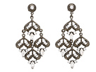 Nina J-Gerbera Earrings (Black)