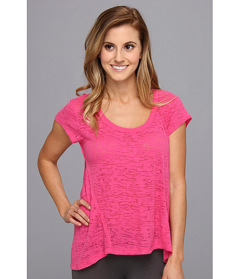 Steve Madden - Burnt Out High-Low Sleep Tee (Cerise) Women's Pajama