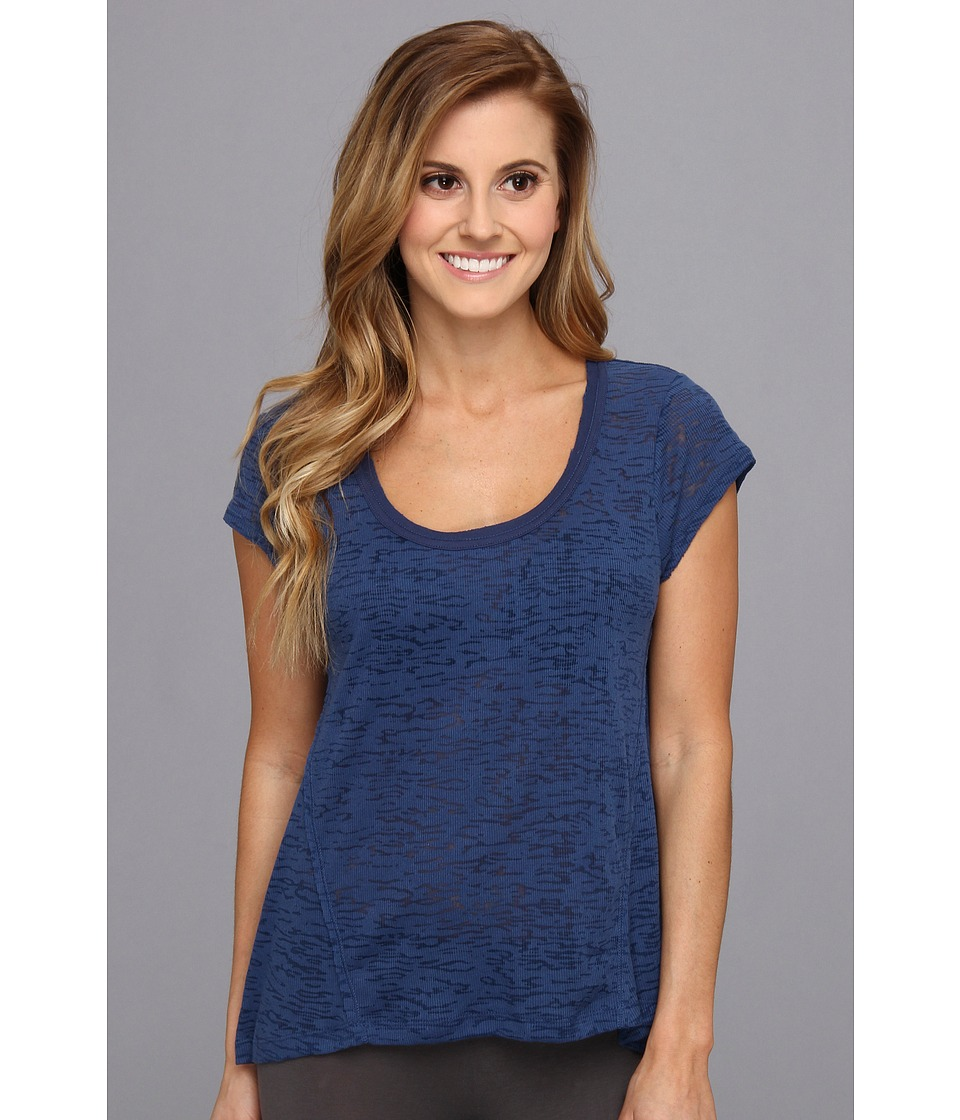 Steve Madden - Burnt Out High-Low Sleep Tee (Sapphire) Women