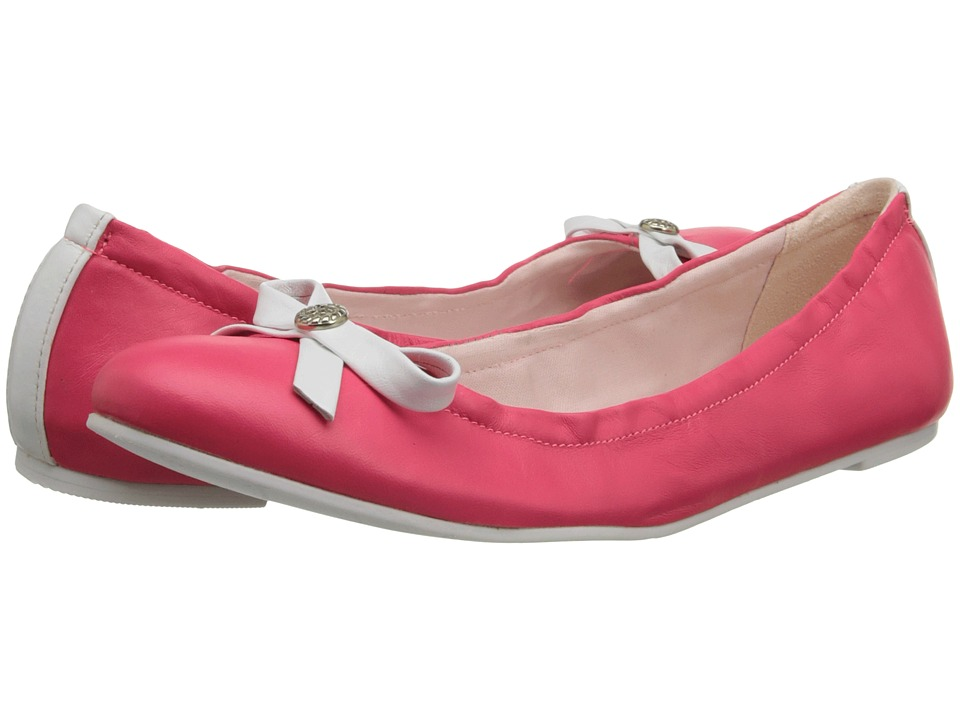 Jack Rogers - Regina (Bright Pink/White) Women's Slip on Shoes