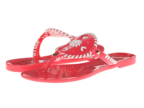 Jack Rogers - Georgica Jelly (Bright Pink/White) Women's Sandals