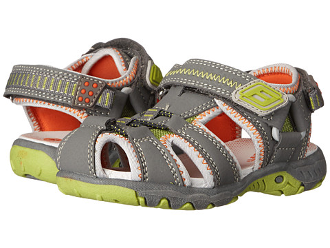 Superfit - Tia (Toddler/Little Kid/Big Kid) (Charcoal/Orange/Lime Green) Boys Shoes